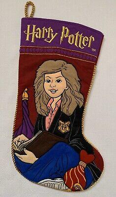 Harry Potter Hermione Granger Warner Bros 2001 Christmas Stocking Quilted Felt