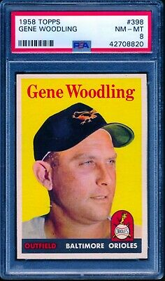 1958 Topps #398 Gene Woodling - PSA 8+ - Great Color