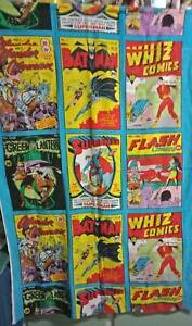 INCREDIBLY RARE  1975 VINTAGE SUPER HEROS  CURTAIN