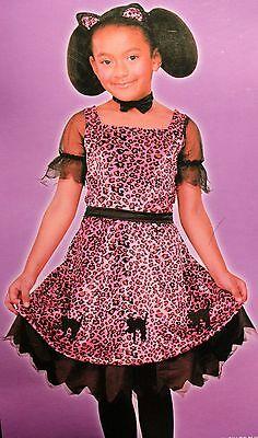 PRETTY KITTY COSTUME 7-8 Girls Spoiled Cat Pink Leopard Fancy Dress Child NEW