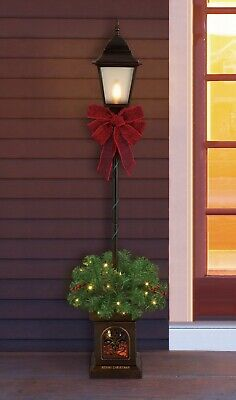 4 Foot Pre-Lit Christmas Lamp Post Outdoor Lighted Decoration Yard Decor