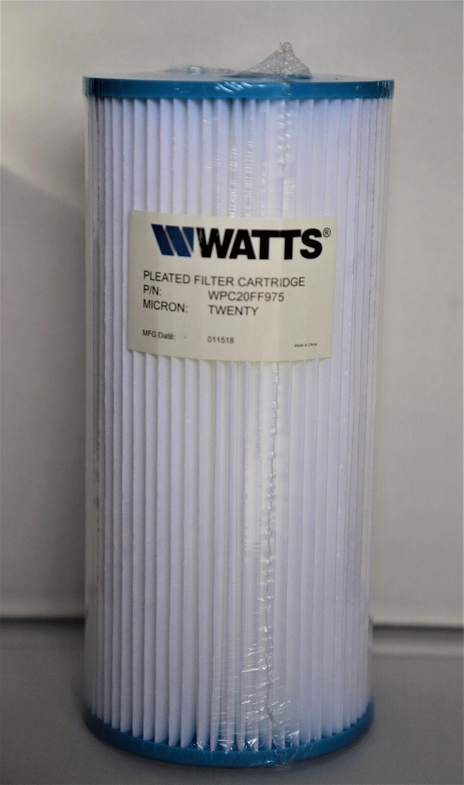 6 Big Blue Watts Brand, 20 Micron Pleated/Washable Sediment