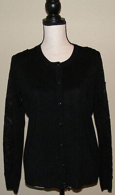 Anna Rose - Anna Rose Cardigan Long Sleeve Lace Detail Size M