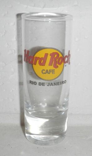 "Hard Rock Cafe HRC Logo RIO DE JANEIRO BRAZIL 4"" Tall Shot Shooter Glass"