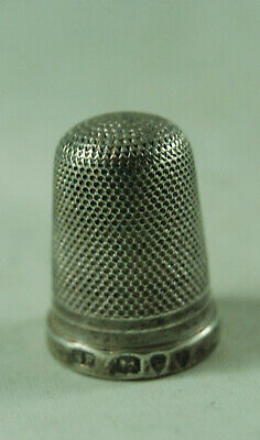 Victorian Silver Thimble Samuel Foskett London 1895 2.7g 2cm x 1.5cm AZX
