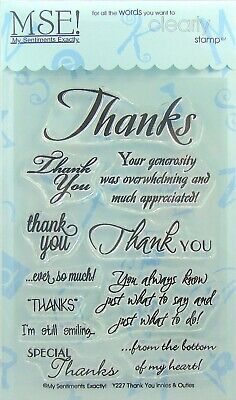 NEW! My Sentiments Exactly! Clear Stamps Y227 Thank You Innies & - Sentiments Clear Stamps