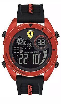 Scuderia Ferrari Men's Digital Red Case & Black Rubber Strap Watch 08529026