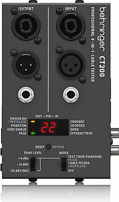 New Behringer Cable Tester CT200 Buy it Now! Make Offer! Auth Dealer!