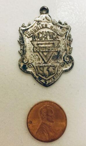 Vintage YMCA  /  YWCA Hobbies Show Silver  Medal 1933