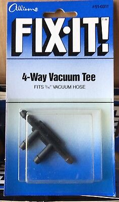 4 Way Vacuum Tee 316 Vacuum Hose Automotive 51-0311 New Old Stock Lot Of 6