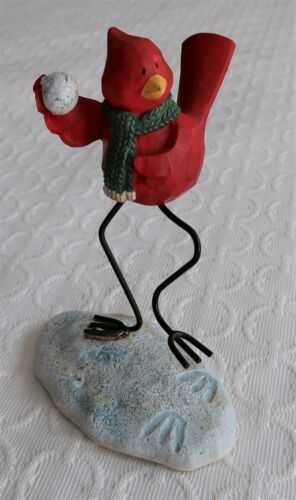 Russ Berri Merrily We Tweet Along Cardinal Bird Figurine 13256