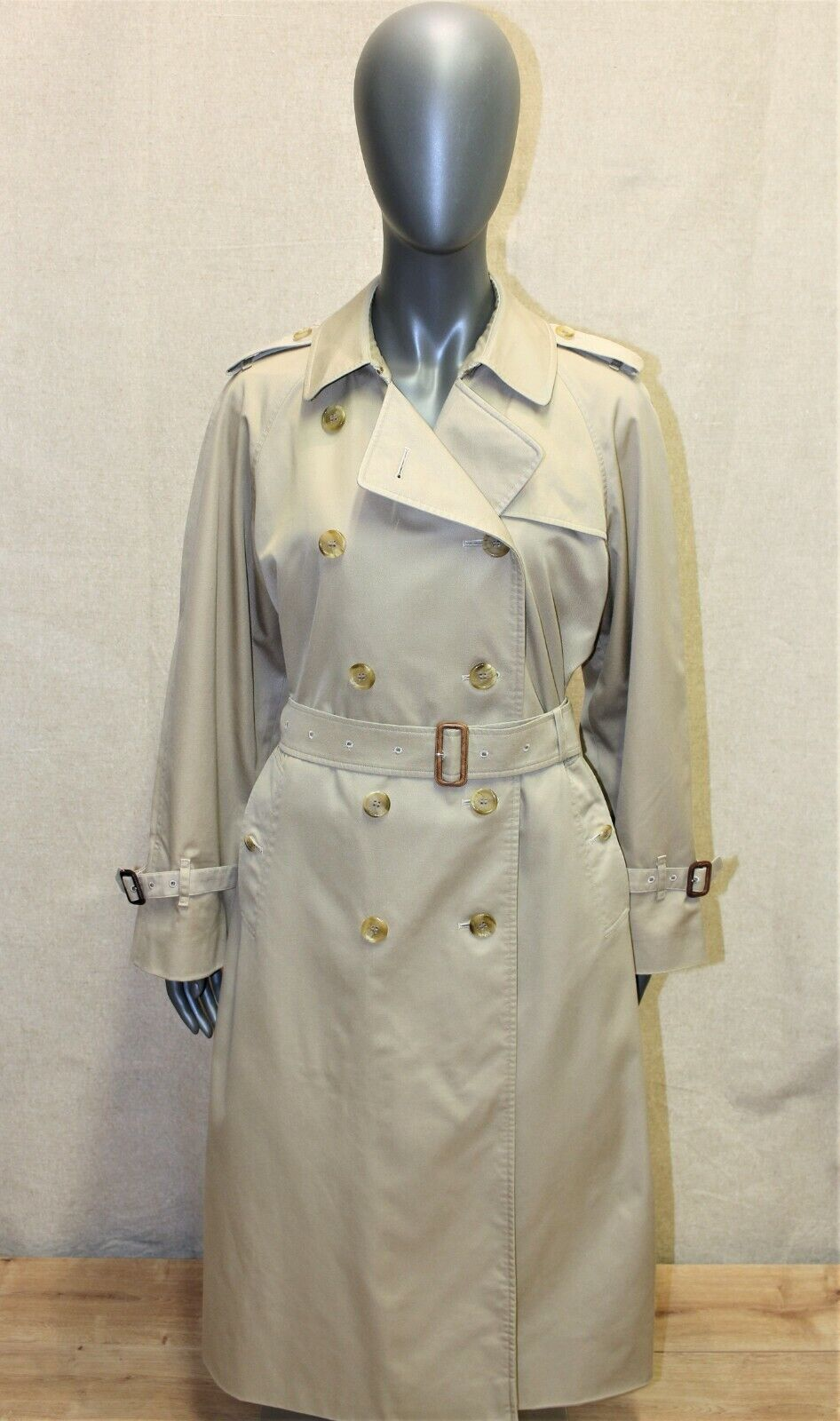 Trench imperméable femme burberry's vintage 70's beige 12reg made in england