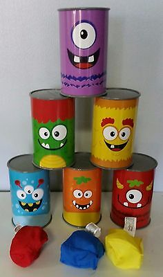 New - Kids Carnival Monster Can Bean Bag Toss Game  Birthday Picnic Party - Carnival Kids