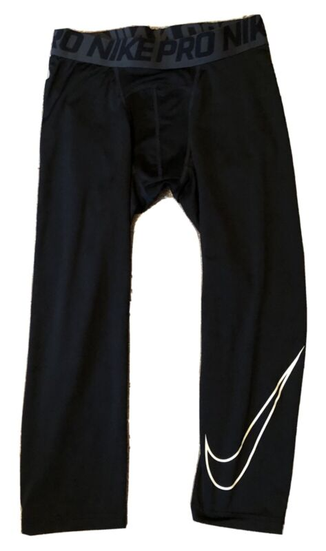 Youth Boy Activewear Sports Run Nike Black Pro Compression Tights Pants Size XL
