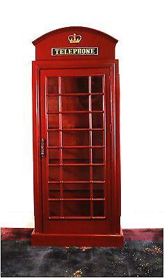 English British REPLICA Telephone Booth SHELF UNIT RED antique Shelves
