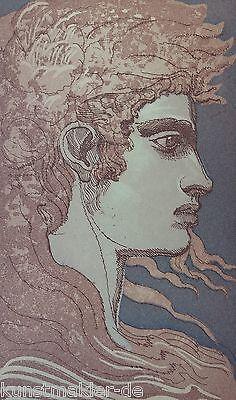 Ernst Fuchs (1930-2015) Original Farbradierung Anno 1988 : ADONIS # 304/350 ! online kaufen