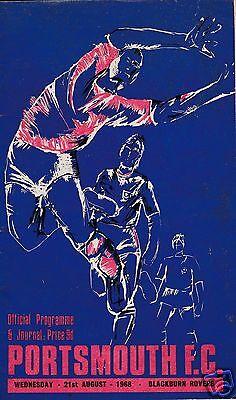 PORTSMOUTH  V BLACKBURN ROVERS  2ND DIVISION  21/8/68