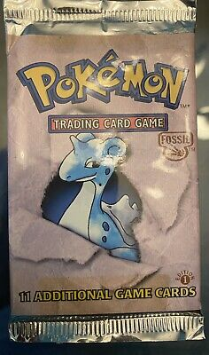 Pokemon Fossil (1) 1st Edition Booster Pack Factory Sealed and Unweighed