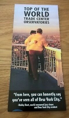 WORLD TRADE CENTER OBSERVATORIES BROCHURE RARE & MINT - Collectible - Fair Price
