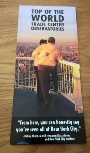 WORLD TRADE CENTER OBSERVATORIES Brochure MINT - Collectible - Very Fair Price