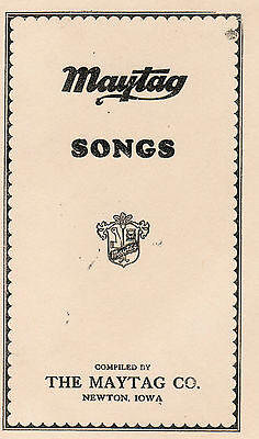 Maytag Song Book Dealer Gas Engine Motor Washer Hit Miss Model 92 82 72 Upright