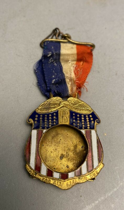 Wwii Or Earlier American Flag Sweetheart Rememberance Brooch Picture Frame