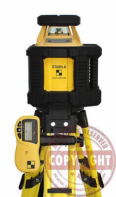 Stabila Lar200 Self-leveling Rotary Laser Leveltransittopcontrimblespectra