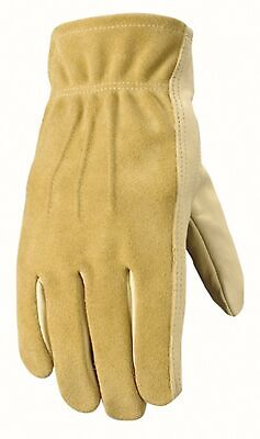 Womens Leather Work And Garden Gloves Heavy Duty Grain Cowhide Medium Wel...