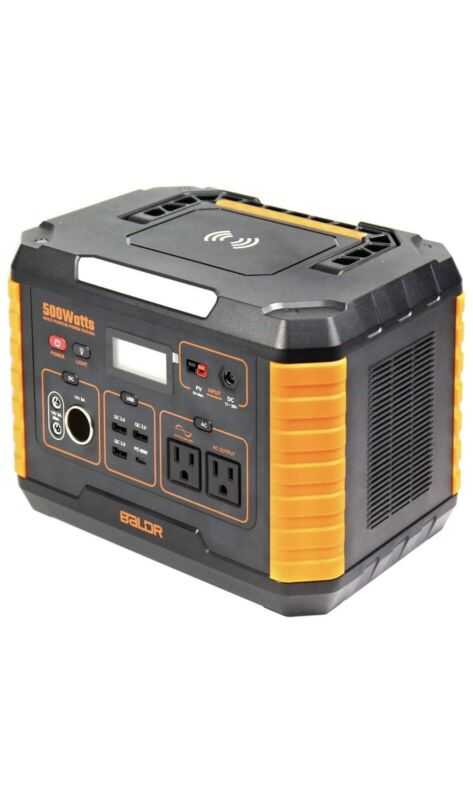 BALDR Portable Power Station 500W, 519Wh Outdoor Solar Generator battery pack