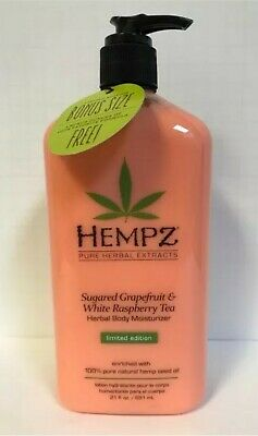 Hempz Sugared Grapefruit & White Rasberry Tea Herbal Body Moisturizer - 21oz  White Body Moisturizer