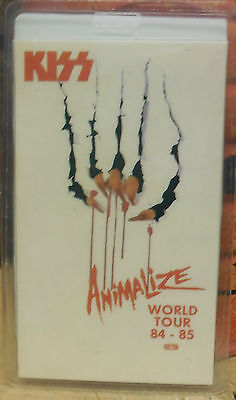 "KISS LAMINATED  BACKSTAGE PASS ""ANIMALIZE WORLD TOUR 84-85""  100% AUTHENTIC"