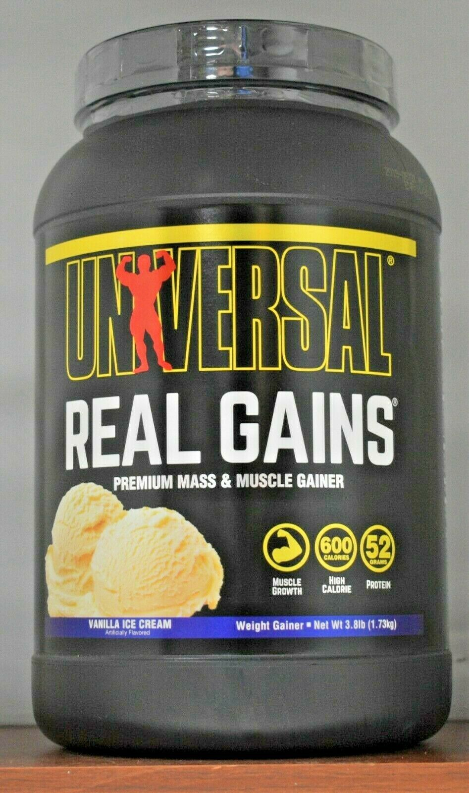 Universal Nutrition Real Gains 3.8Lb Weight Gainer 1.73kg