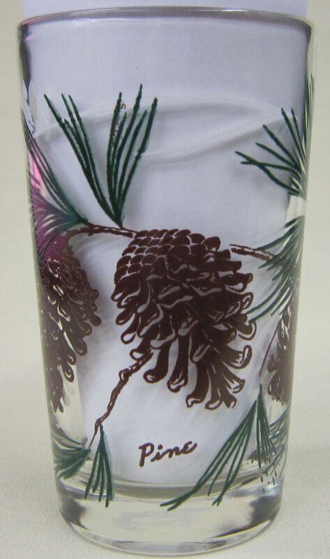Pine juice size Peanut Butter Glass Glasses Drinking Kitchen  Mauzy 118-3