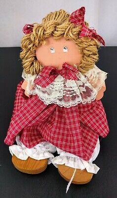 Vintage Handmade Country Folk Art Wooden Shelf Sitting Sitter Doll Figure Decor (Country Folk Art Decor)