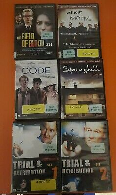 Acorn media dvd Lot Ex Library field of blood without motive code Springhill...
