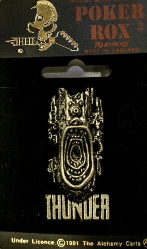 Poker Rox THUNDER Pin Clasp RARE!!  PC258