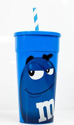 nststoffbecher mit Deckel und Strohhalm, Farbe Blau (Kunststoff-becher Mit Deckel)