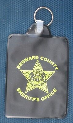 Broward Sheriff Office FL State of Florida Fla Vinyl Police ID Holder with Ring
