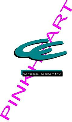 3 Coachmen cross country Decals RV sticker decal graphics trailer camper Sticker