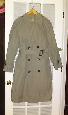 DSCP Valor Coll. Pewter Trench Coat w/ Removable Lining 38S All Weather
