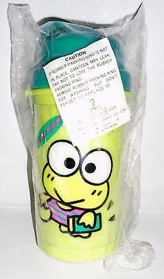 NEW~ Sanrio Vintage Keroppi Plastic Thermos Bottle Hello Kitty Friends 1996