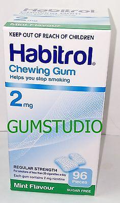 2mg MINT Habitrol Nicotine Gum 2 Boxes 192 Pieces Pcs Fresh Quit (192 Piece 2 Boxes)
