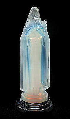 An Etling Art Deco Opalescent Glass Figure - Saint Theresa of the Roses
