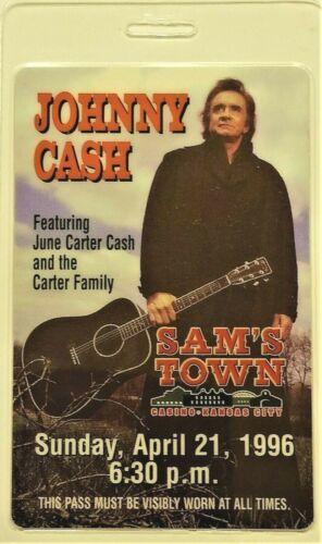 **** JOHNNY CASH **** - LAMINATED BACKSTAGE PASS - EXCELLENT - June Carter Cash