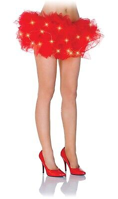 Under Wraps Women Fancy Red LED  Light Up Tutu Dress Halloween Costume Adult - Red Tutu Halloween Costume