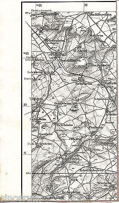 Sprendlingen Gau-Bickelheim 1934 Karte/Ln. Wöllstein Weinheim Armsheim Nack