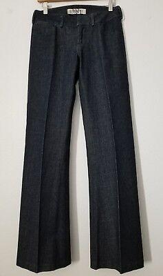1921 Western Glove Works Jeans Juniors size 26 / 1 Wide Leg Low Rise Dark Cotton 1921 Jeans Cotton Jeans