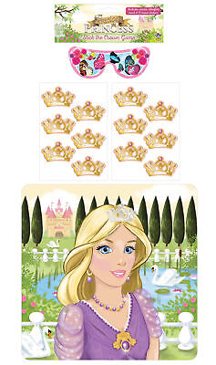 Stick The Tiara On The Princess Game - Party Childrens Pin Tail Activity - Pin The Crown On The Princess