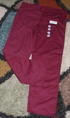 Red Gelscrubs Pant - GelScrubs Unisex Drawstring Scrub Pant W/ Back Pocket Burgundy Style 6558 Small
