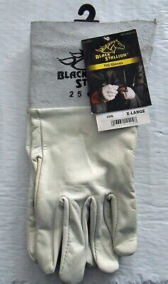 New Xl Black Stallion 25g Long Cuff Goatskin Tig Welding Gloves Free Us Shipping